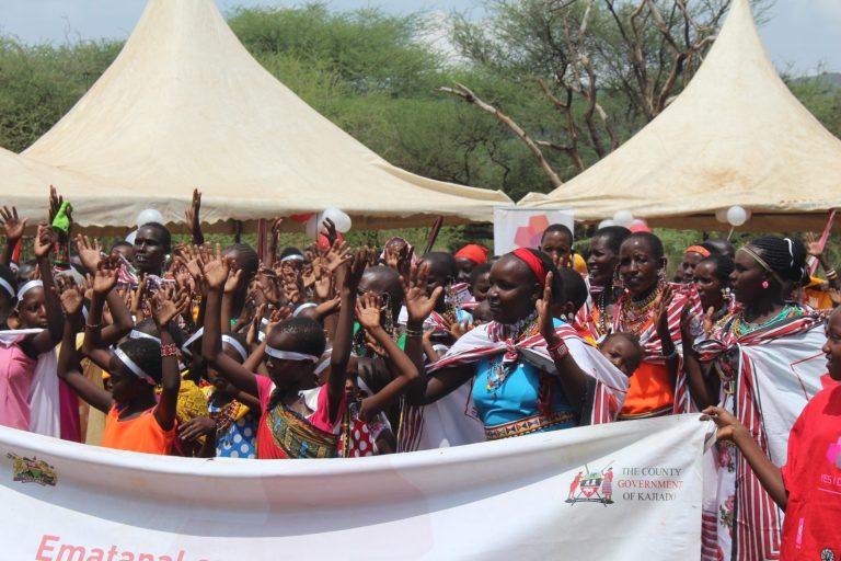 Girls singing during Alternative Rite of Passage event