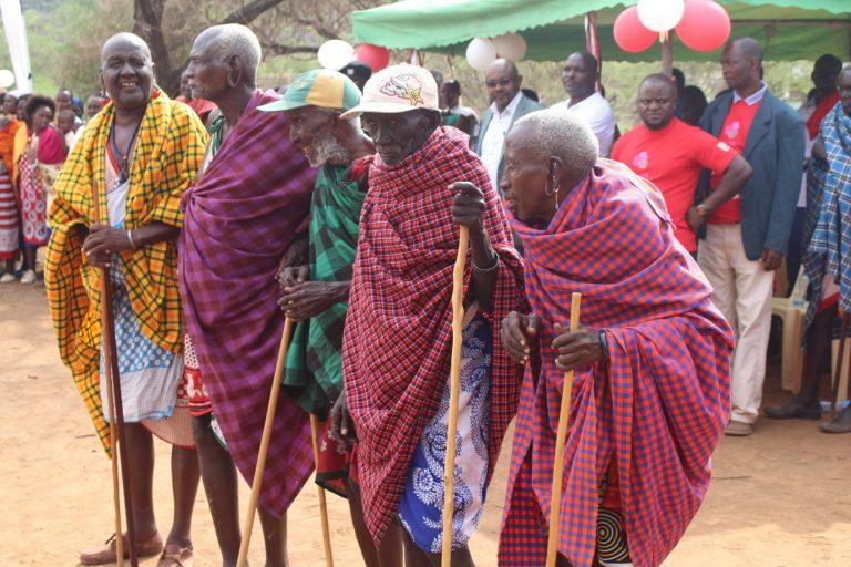 Maasai Elders during Alternative Rite of Passage ceremony