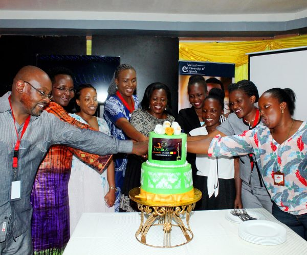 Cake cutting during WIE Uganda